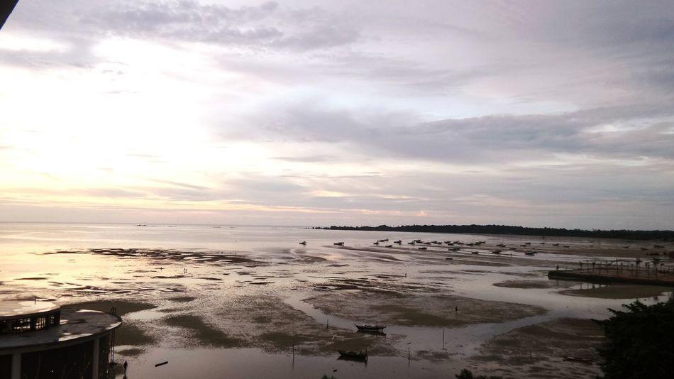 Good Afternoon Sunset Sand Nature Sky Cloud - Sky Horizon Over Water Beach Beauty In Nature Belitung Island