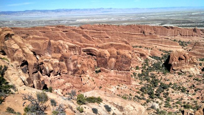 #arches #nationalpark #redrock #Utah Arid Climate Barren Beauty In Nature Desert Eroded Extreme Terrain Geology High Angle View Landscape Mountain Nature Non-urban Scene Physical Geography Remote Rock Rock - Object Rock Formation Scenics Tranquil Scene Tranquility