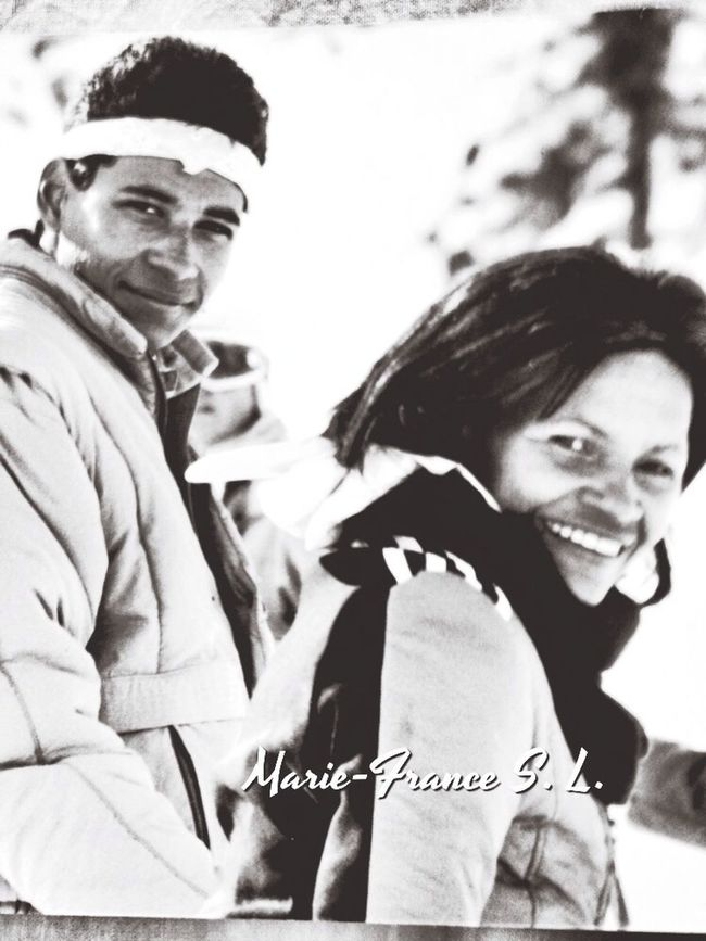 With my boy on Isola 2000 - France Winter White By CanvasPop Enjoying Life Snowboarding Profesionalpictures