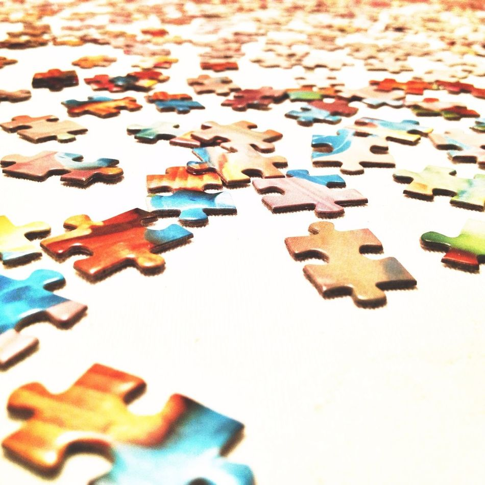 Beautiful stock photos of puzzle, Abundance, Close-Up, Day, Elevated View