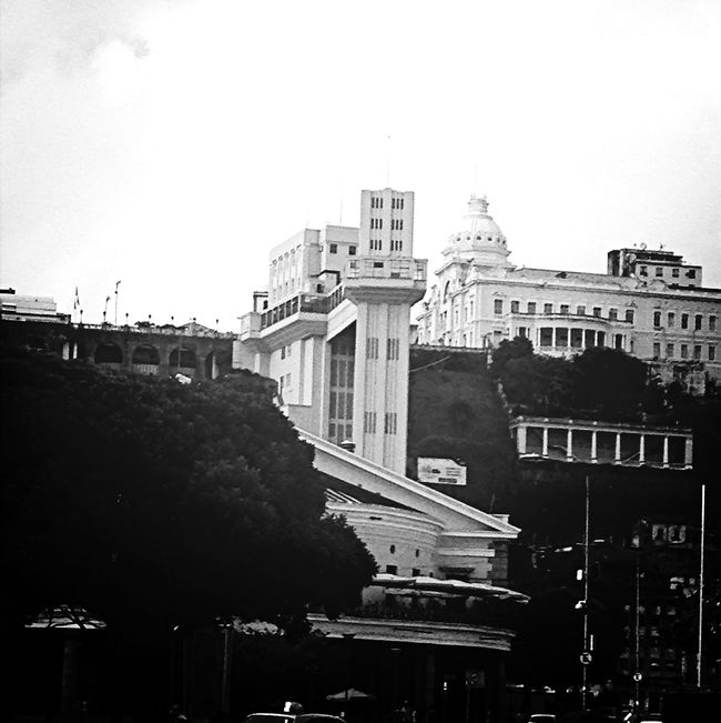 Architecture Black And White Street Urban Elevador Lacerda