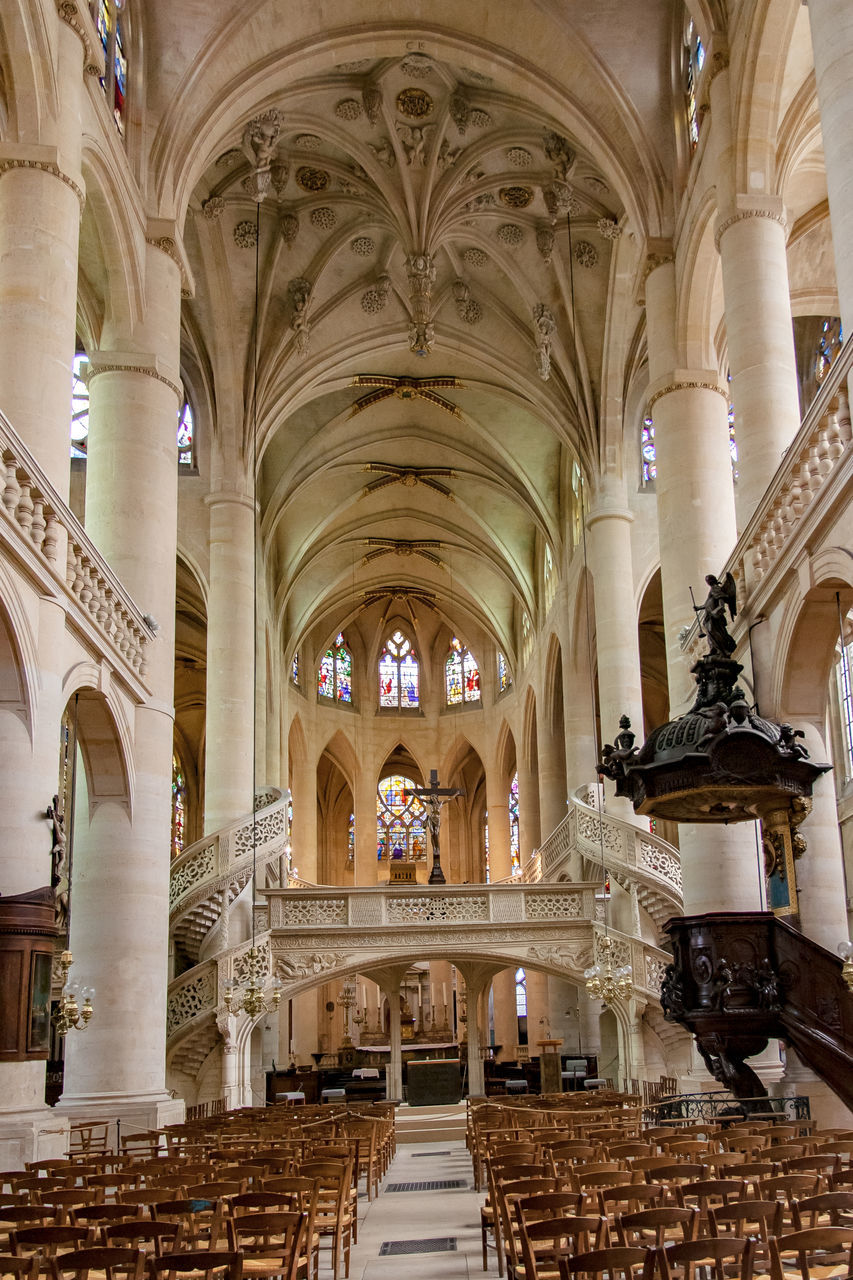architecture, architectural column, arch, indoors, history, tourism, place of worship, no people, day