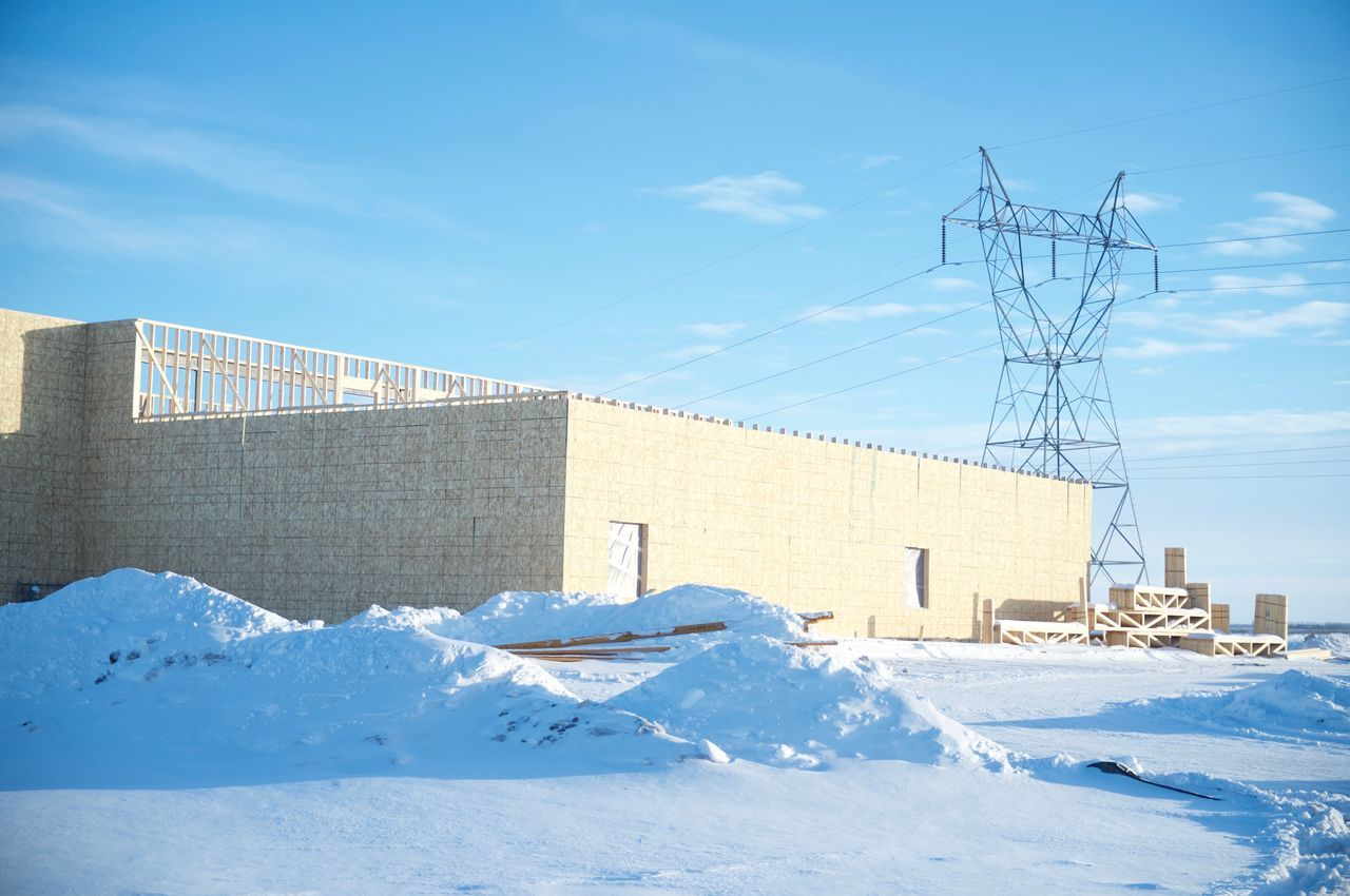 Architecture Building Exterior Built Structure Cold Temperature Day Fargo No People North Dakota Outdoors Sky Snow South Fargo Technology Winter Winter