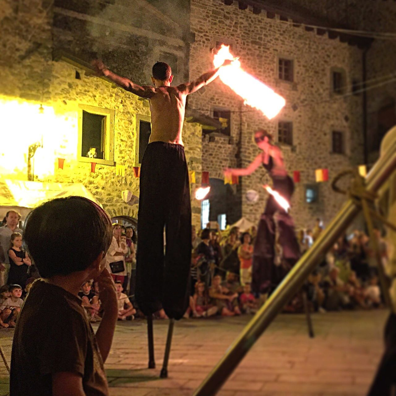 Real People Arms Raised Architecture Built Structure Building Exterior Fire Artists Fire Night Illuminated Lifestyles Child Human Body Part Outdoors City People Festival Festa Filetto Tuscany Italy Art Is Everywhere The Street Photographer - 2017 EyeEm Awards The Architect - 2017 EyeEm Awards