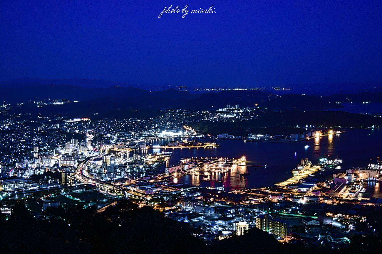 夜景 Night View 佐世保 長崎 Japan トワイライト Night 港