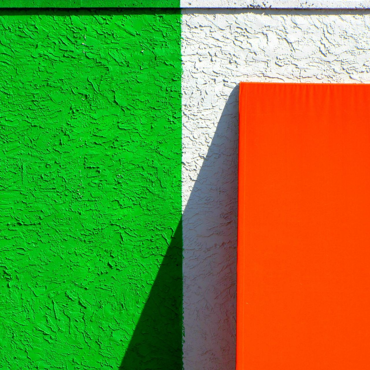 Architecture Backgrounds Brick Wall Building Exterior Built Structure Close-up Copy Space Day Full Frame Green Color Minimal Minimalism Multi Colored No People Outdoors Textured  Wall - Building Feature