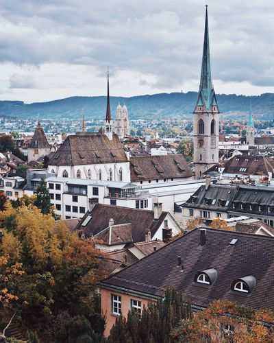 Architecture Building Exterior Built Structure Sky Cloud - Sky Day Mountain High Angle View No People Cityscape Outdoors Town City Nature Sea Travel Destinations Tree Water Zürich Zürich Eth Polyterrasse Ethzurich Architecture Zurich, Switzerland