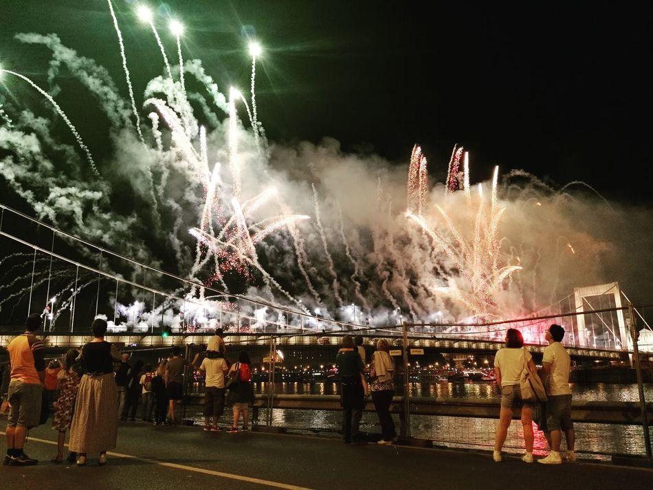 Fireworks Hungary Saint Stephan August 20