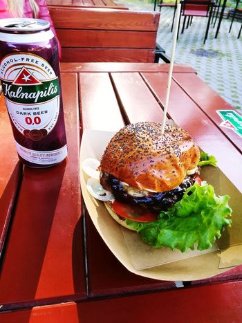 Food And Drink Hamburger Food Table Plate Ready-to-eat Unhealthy Eating No People Freshness Burger Meat Fast Food Day