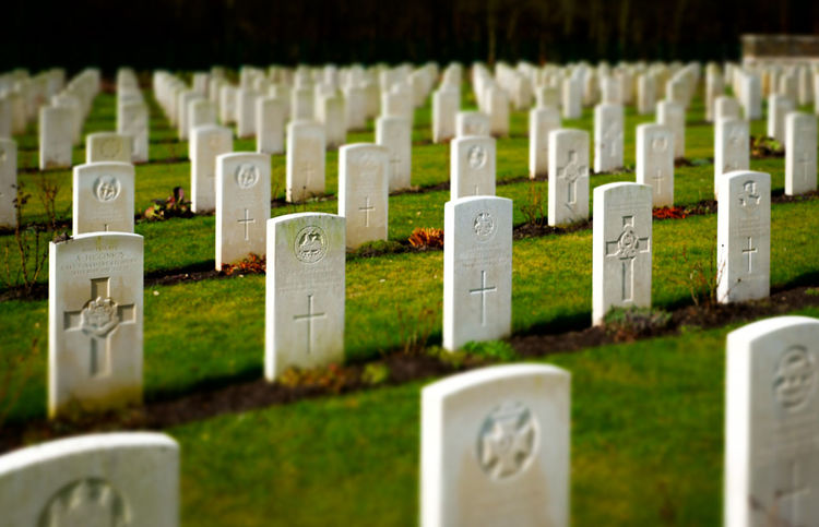 Cemetery Close-up Focus On Foreground Friedhof Grabstein Grabsteine Grass Green Color Headstone Headstones Headstones In A Row History In A Row Memorial Military Outdoors Religion Selective Focus Soldatenfriedhöfe Tombstone