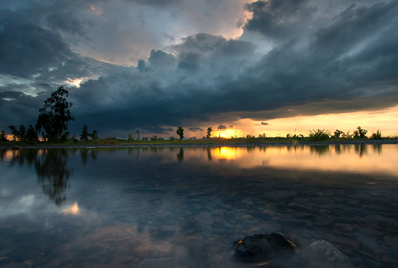 Could and sky Clouds And Sky Clouds Cloud Sky Water Reflection Water Reflections Nature Landscape Open Edit