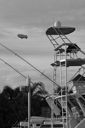 Blimp Yacht B&w Photography
