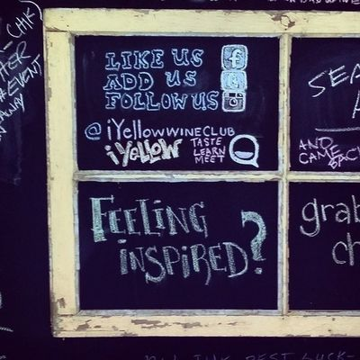 I felt a little inspired, so I updated the socialmedia square at @iyellowwineclub - while tasting RadioBoka Iyellowwineclub Toronto RadioBoka SpanishTempranillo chalkart @aimcook