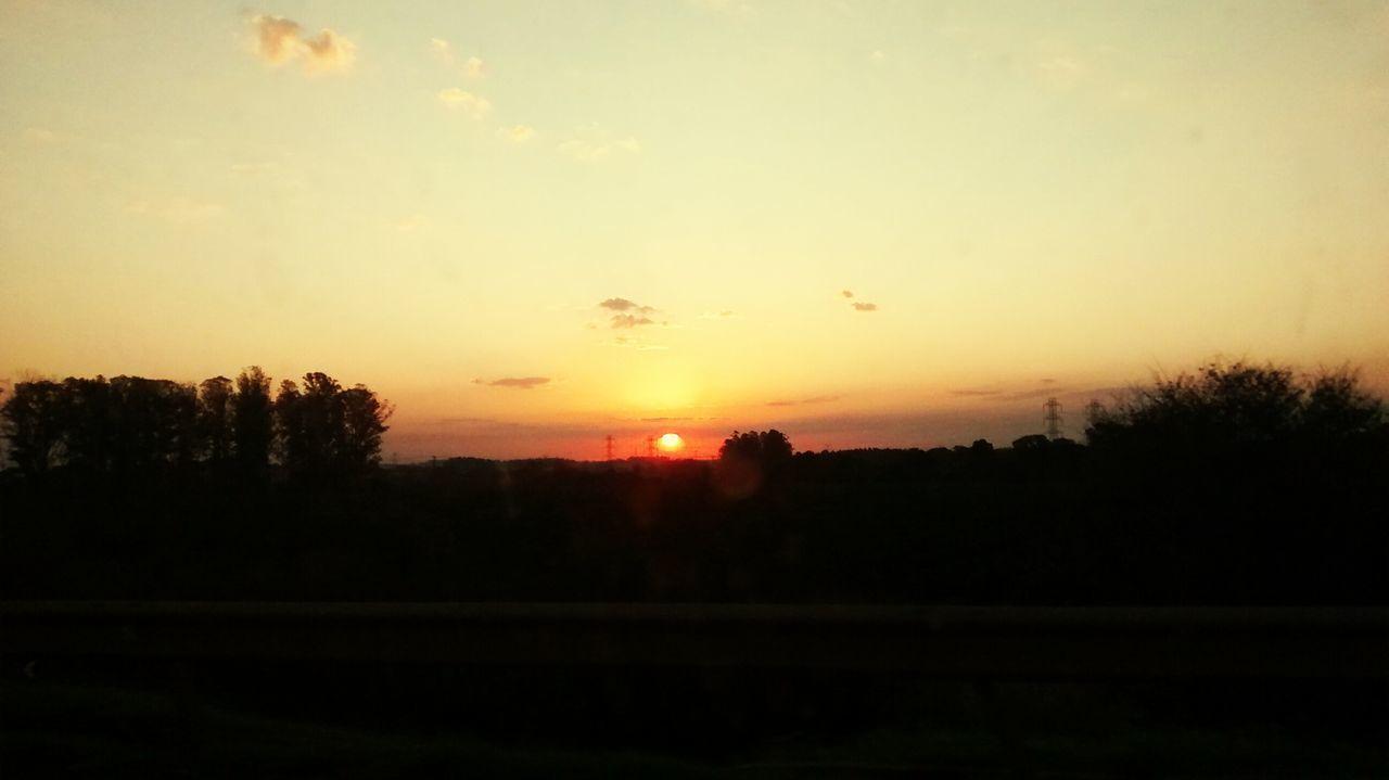 Sol Por Do Sol Noite