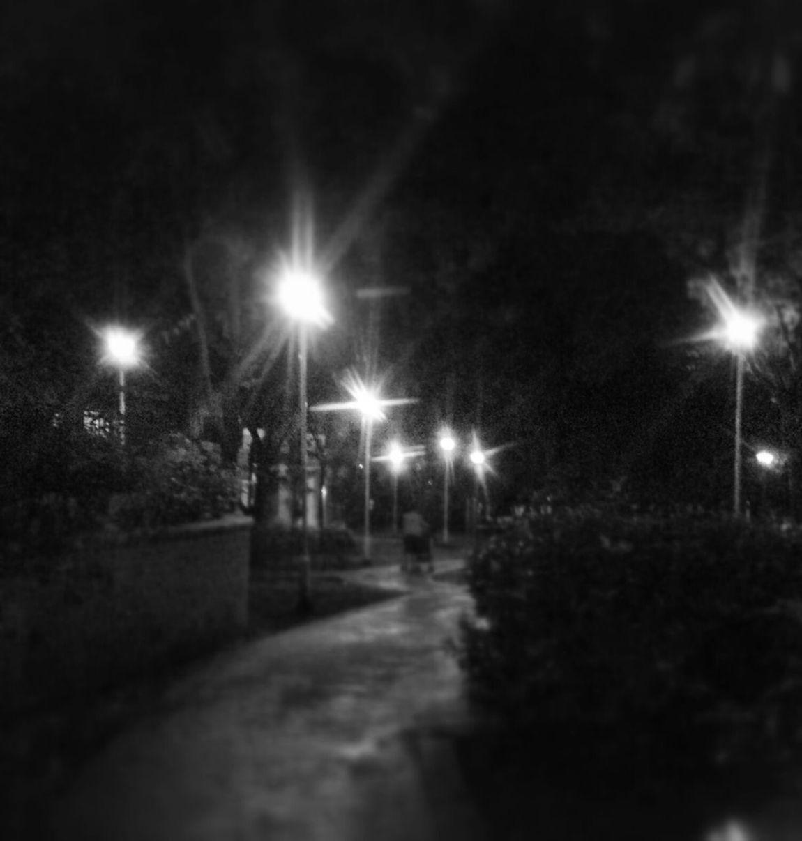 Night falls....sparking street lights.