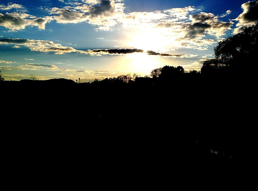 God Heavenly Sunset Sky Over The Mountain Outdoors Nature