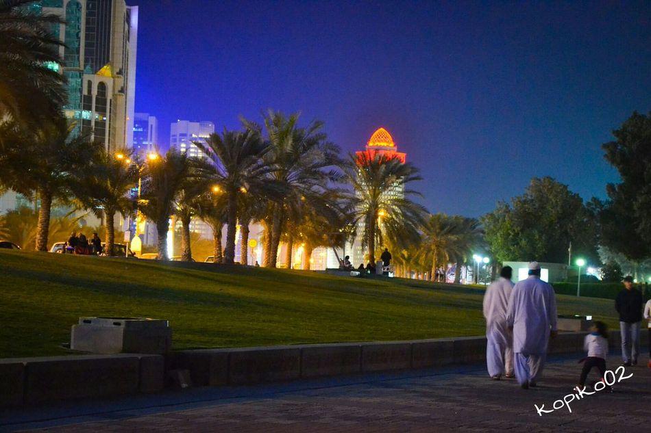 Doha,Qatar Doha Corniche Doha By Night Dohalife Qatarlife Kopiko Taking Photos Enjoying Life Hello World Eeyem Photography First Eyeem Photo