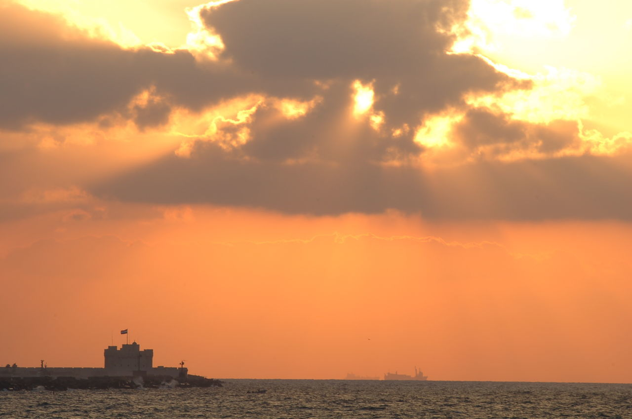 Alexandria Egypt Architecture Citadel Cloud - Sky Day Nature No People Outdoors Sea Sky Sunset Travel Destinations Water