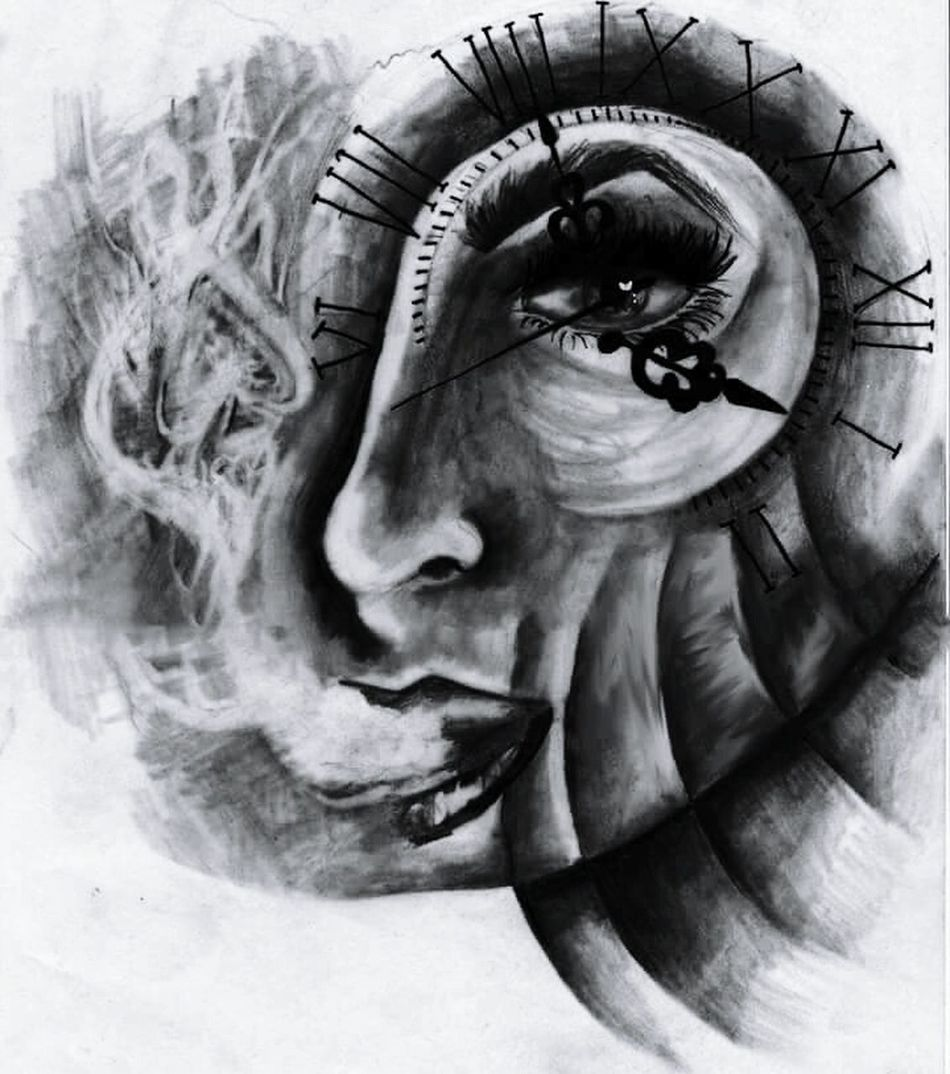 Statue White Background Close-up Artistic Expression Drawing Canvas Indoors  Artist Craft Canvas/ Mag/ Print Quality Paint Artworks Arts Culture And Entertainment Art, Drawing, Creativity TattooApprentice Tattoodesign Tattoo Portrait Tattoolife Painting Doubleexposures First Eyeem Photo Studio Shot People