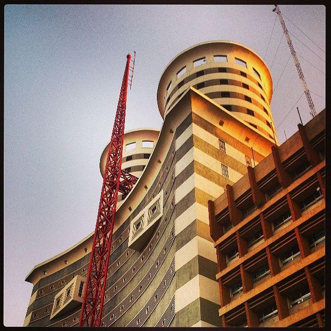 Nairobi Kenya Morning Sky cloudless webstagram webstagram statigram architecture NationMediaHouse photography