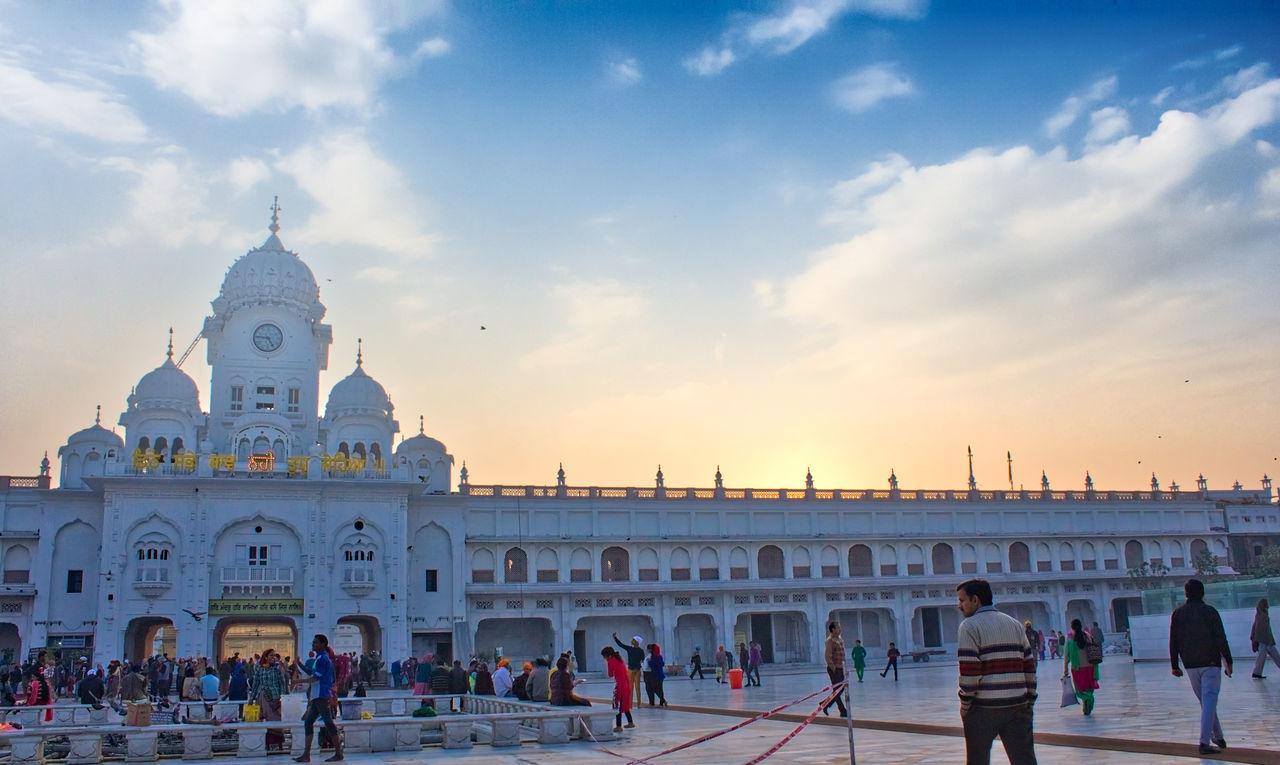 Golden Temple Entrance Amritsar Architecture Building Exterior Golden Temple Luminar Macphun Punjab Religion Sikhism Sky Sunset Travel Destinations
