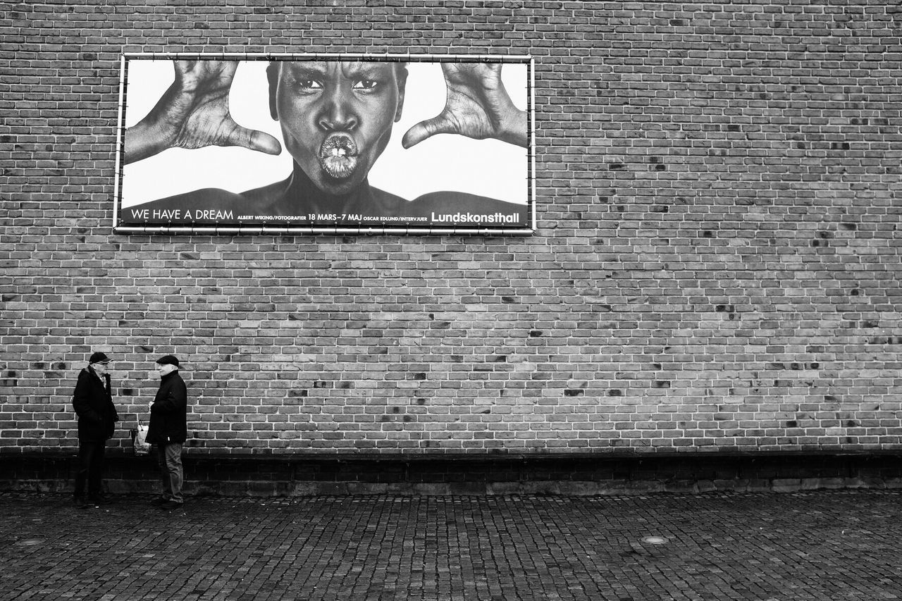 Brick Wall Street Photography Black And White Bw_collection