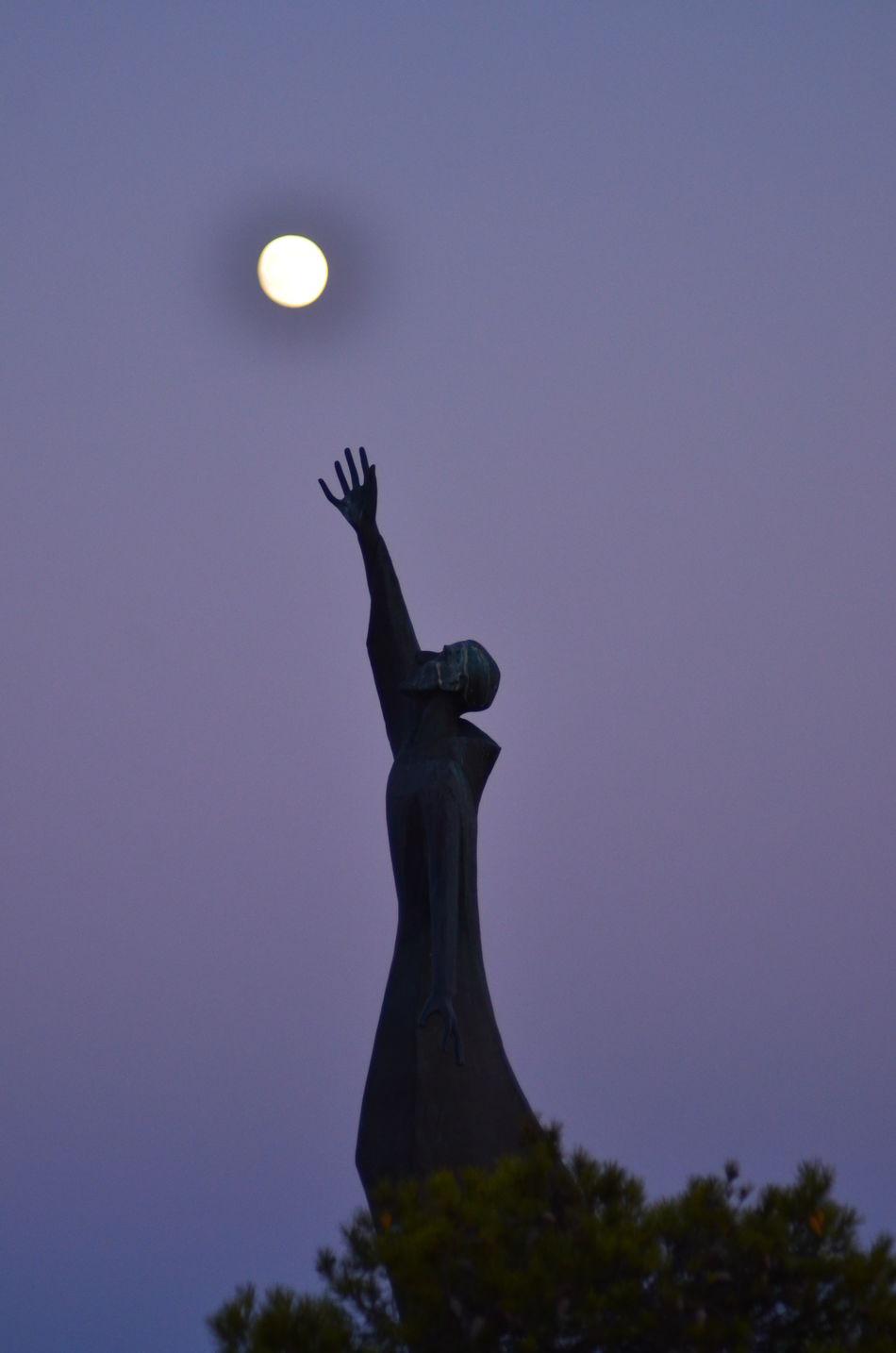Cagliari Urban City Cagliari, Sardinia City Of Cagliari Moon Saint Francis And The Moon Saint Francis Of Assisi Saint Francis Statue Sardegna Viale Europa Viale Europa Caglia