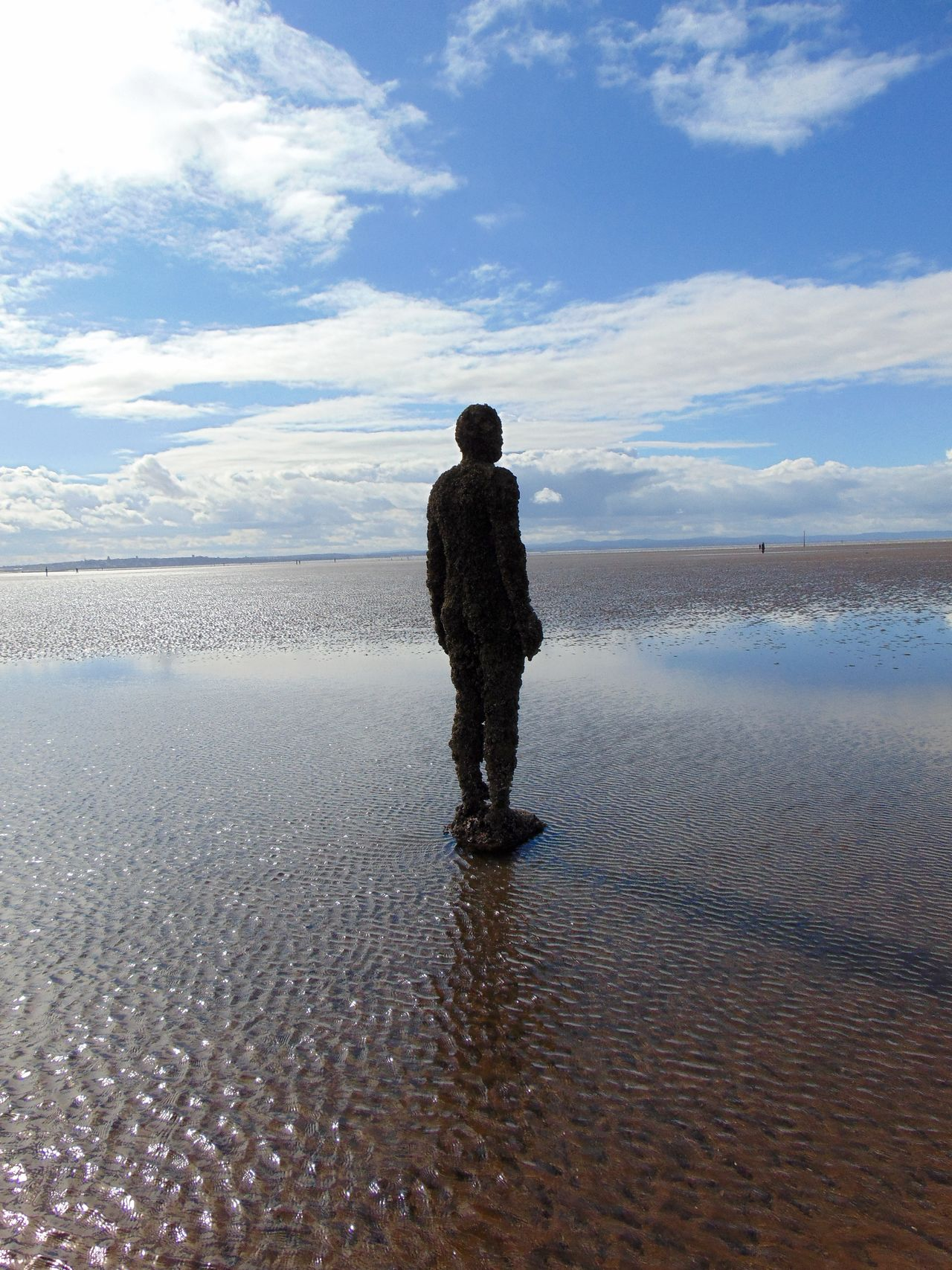 Beach Beauty In Nature Crosby Beach Full Length Horizon Over Water Leisure Activity Lifestyles Nature Rear View Sand Scenics Sea Shore Sky Standing Tranquil Scene Tranquility Vacations Water