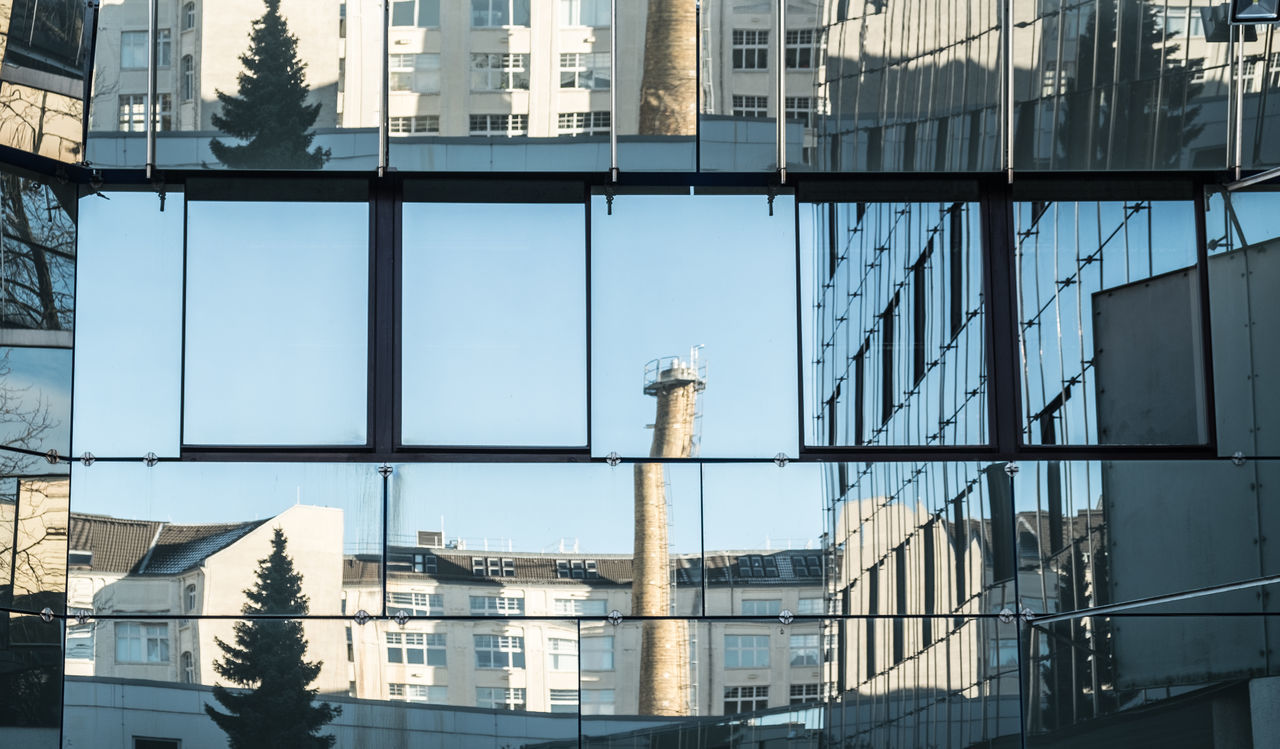 Cityreflection Architectural Column Architectural Feature Architecture Architecture_collection Berlin Berlin Photography Building Building Exterior Built Structure City Cityexplorer Day Façade No People Outdoors Reflection Reflection Urban Landscape Urbanphotography Window Windowreflection