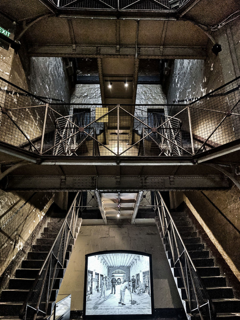 If these stairs could talk // Old Melbourne Gaol, Melbourne, Australia Architecture Architecture_collection Australia Built Structure Historic Historical Building History Indoors  Low Angle View Melbourne Museum No People Old Melbourne Gaol Perspective Smartphonephotography Steps And Staircases