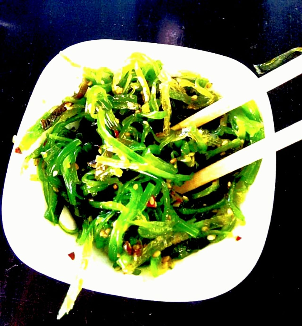 Food Porn Awards My Favorite Salad Seaweed Salad Roasted Sesame Seeds Emerald Green