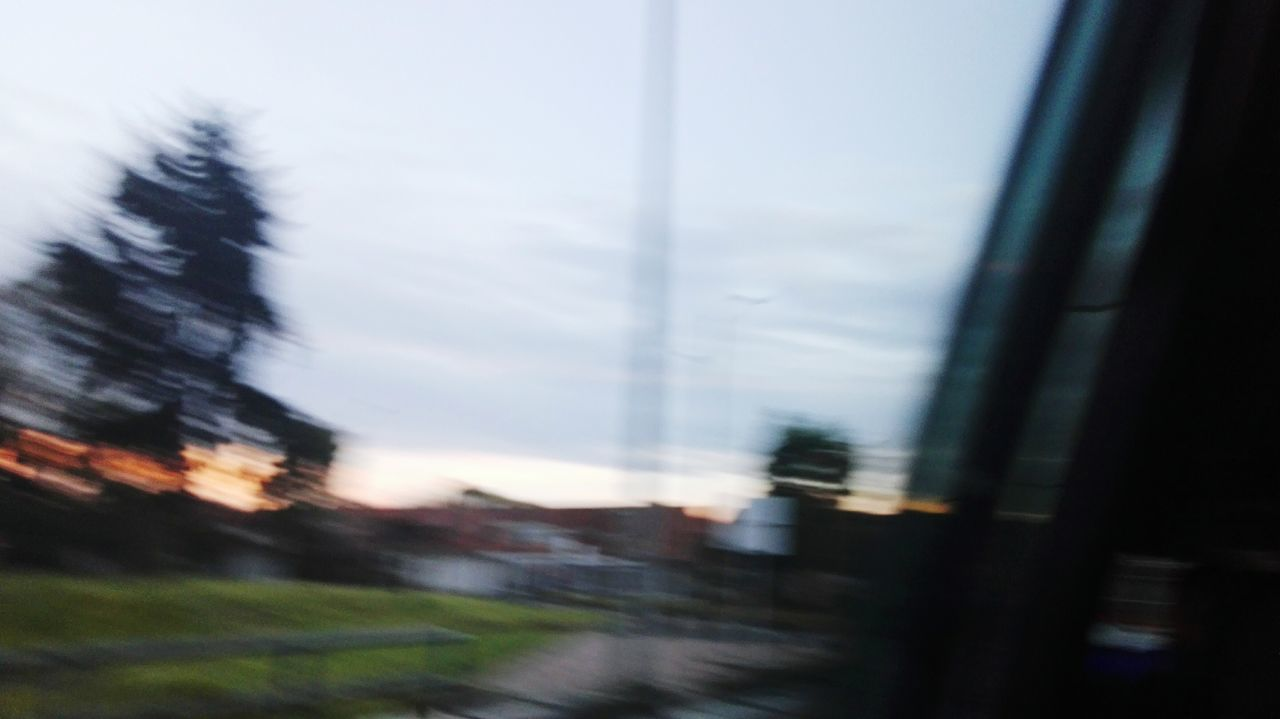 blurred motion, no people, sky, day, road, motion, nature, outdoors, defocused, close-up, tree