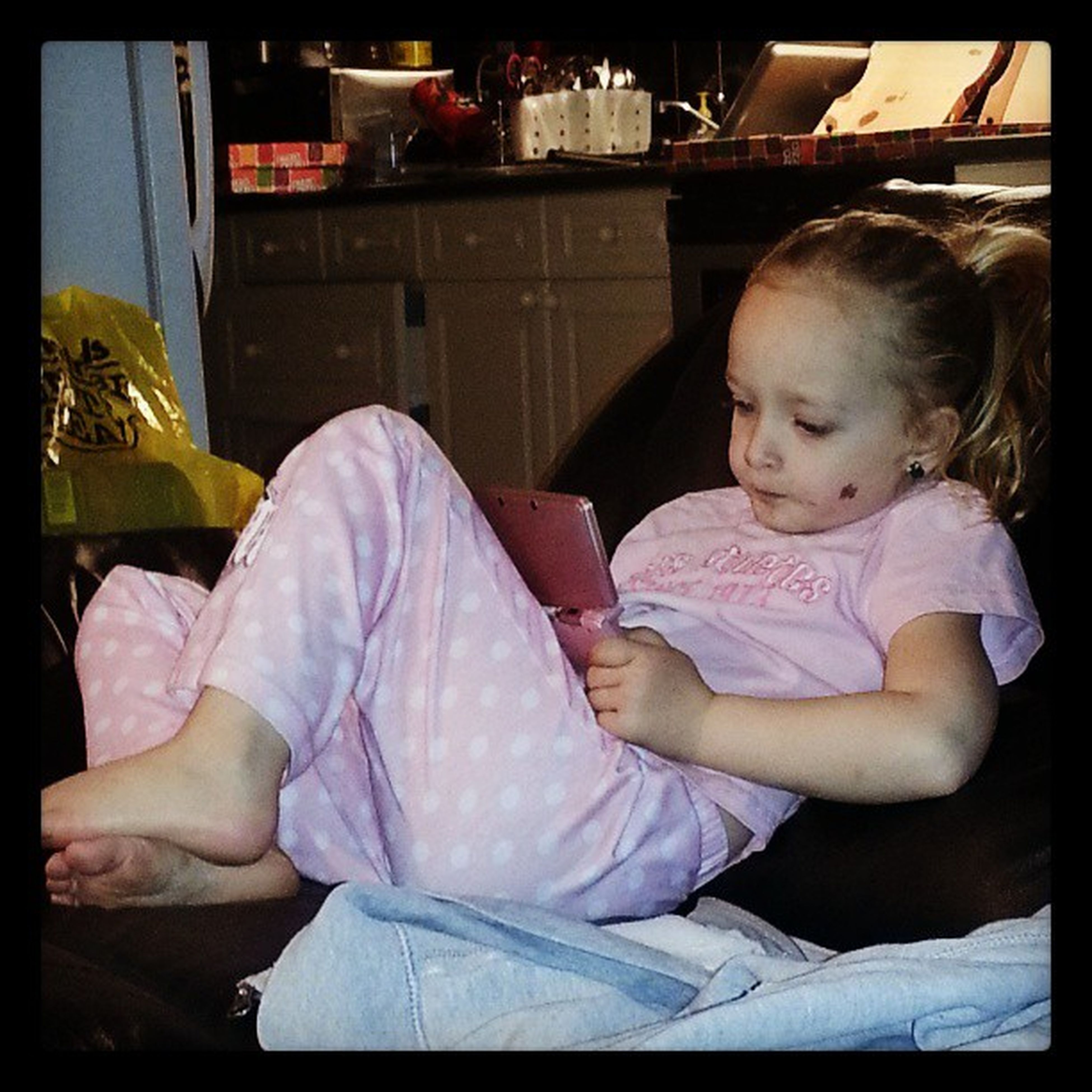 my niece playing with her Ds MyNiece GamerInTheMaking PINKeverything Reclined Comfortable