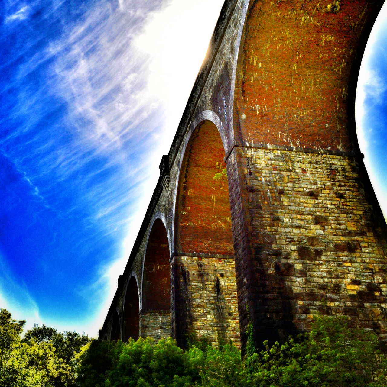 Beautiful engineering. Arches Engineering Sky And Clouds Summer Viaduct Barry Wales