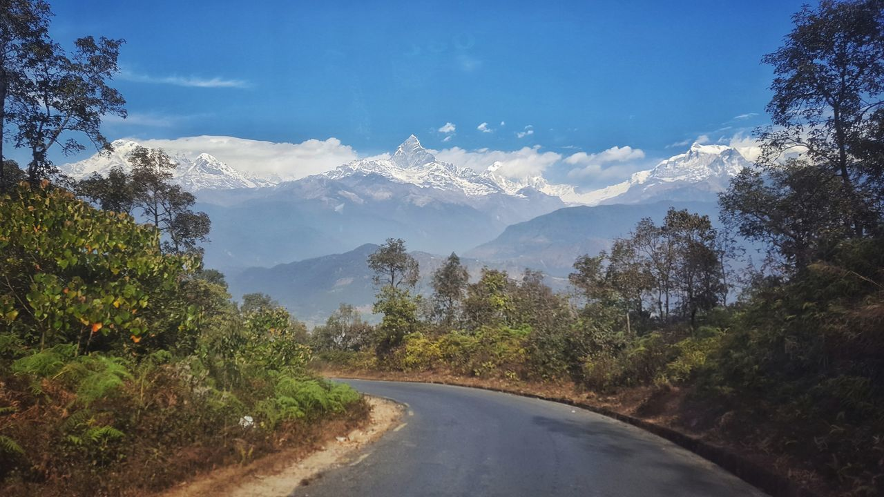 Annapurna Mountain Range Landscape Road Hello World Golden Moment S6edgephotography Love Nature EyeEm Best Shots EyeEm Gallery Today's Hot Look From My Point Of View Peace Of Mind Pokhara, Nepal Beautiful Nepal