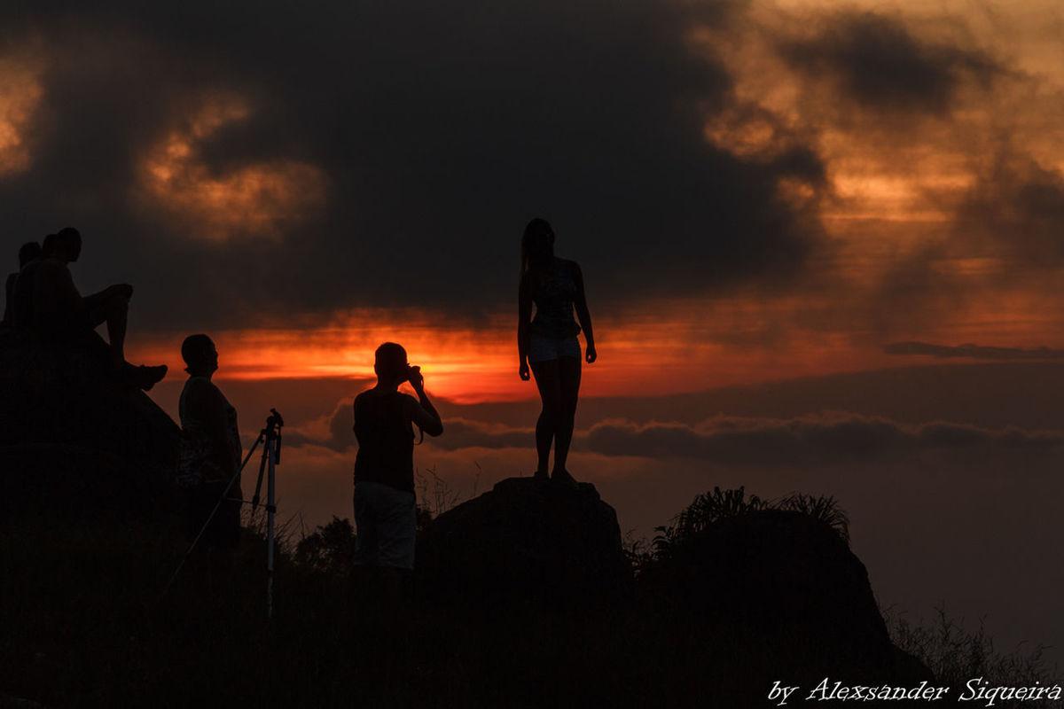 Fotos Friendship Pico Do Urubu Por Do Sol Scenics Silhouette Sunset