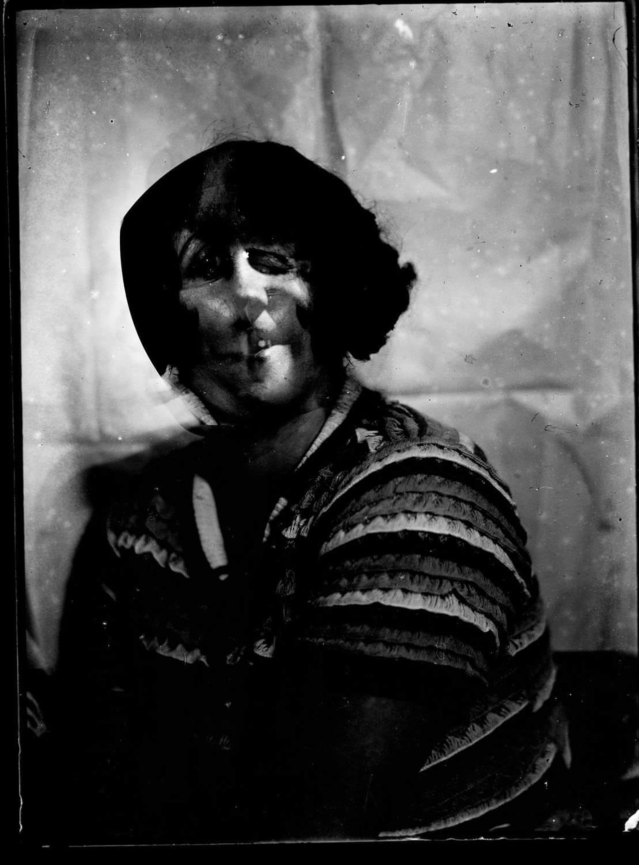 Monster Blackandwhite Vintage Portrait Art