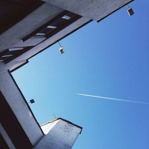 Sky Blue Sky Plane Airplane First Eyeem Photo