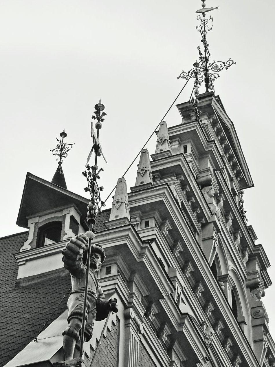 Latvia Riga Architecture Vecriga Black & White