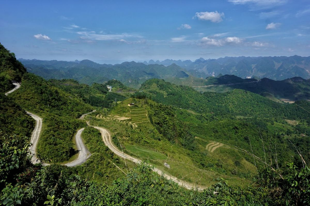 Vietnam Scenics Mountain Tranquil Scene Landscape Road Tranquility Non-urban Scene High Angle View Beauty In Nature Mountain Range Winding Road Nature Mountain Road Curve Travel Destinations