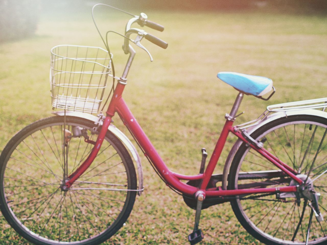 Bicycle Transportation Mode Of Transport Stationary Land Vehicle Bicycle Basket No People Outdoors Wheel Day Nature