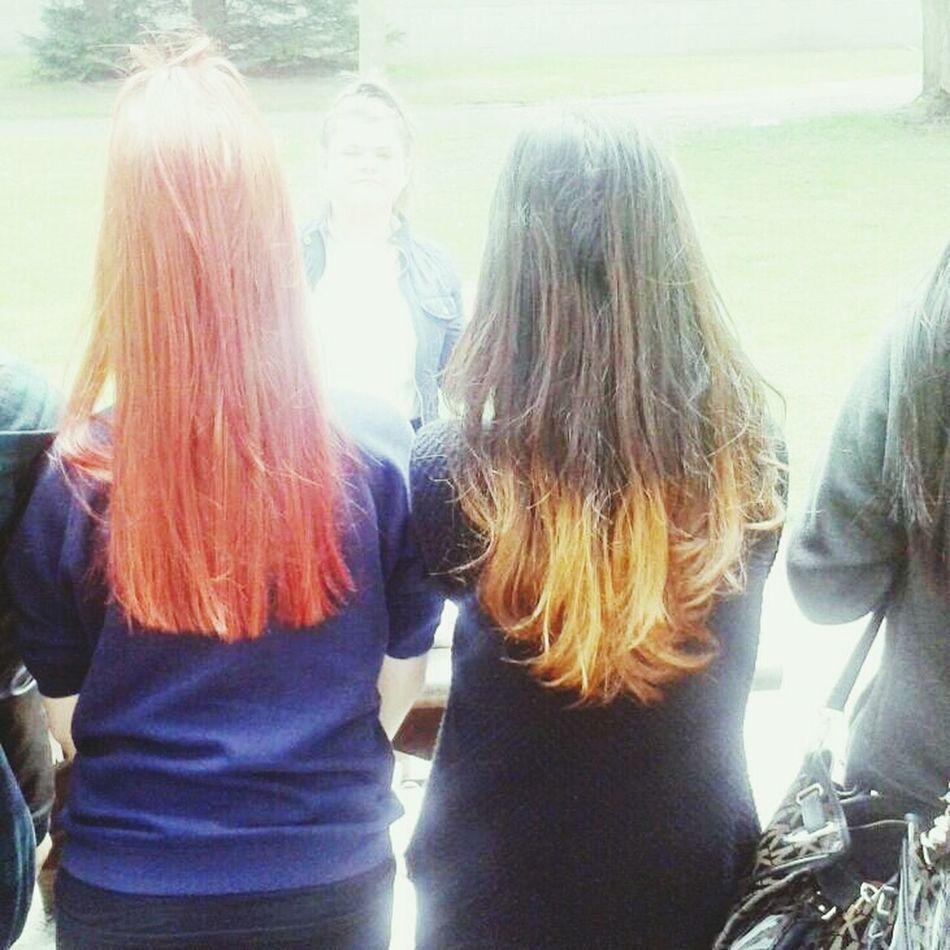 me and my friend ??? Red Hair Our World Taking Photos Dip Dye Hair