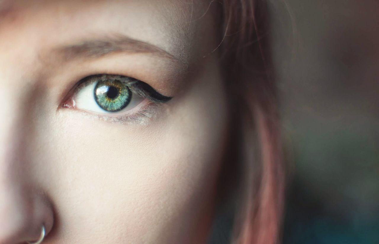 Human Eye Portrait Eye People Close-up Women Human Face Eyesight Human Skin Young Women