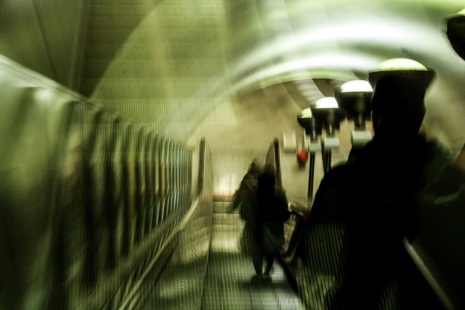 Blurred Motion Commuter Indoors  Long Exposure Passenger People Public Transportation Standing Subway Station Transportation Travel Tunnel Weird