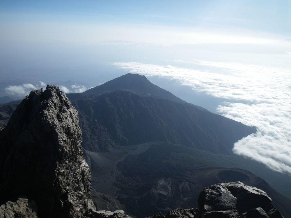 View from Mt. Meru into the crater with Little Meru in the background Africa High Altitude Meru Mountain Mt.meru Tanzania