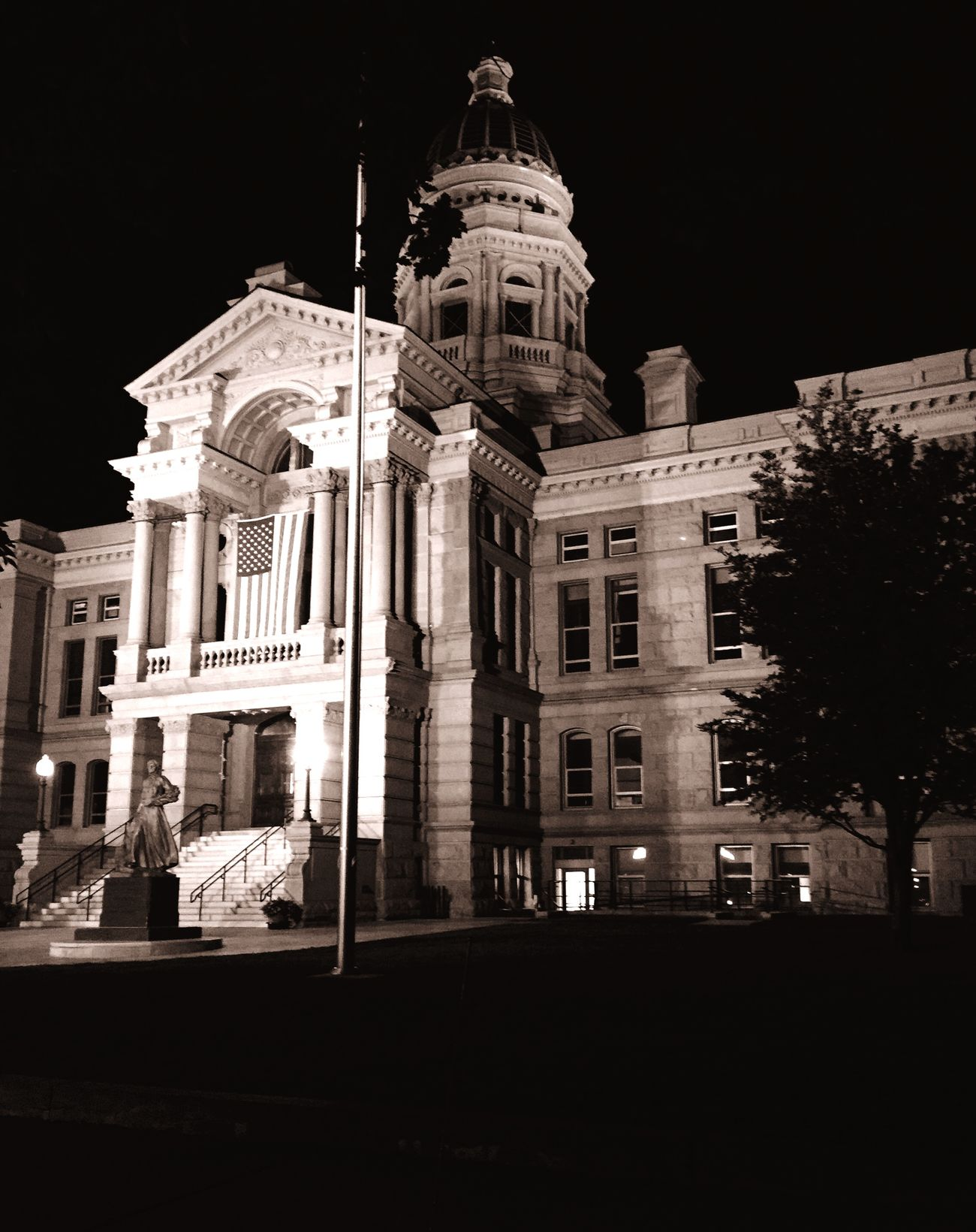 Wyoming state Capitol in Cheyenne Wyoming at 4 am First Eyeem Photo