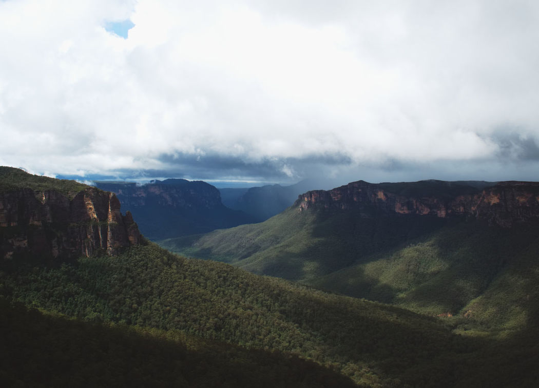The Blue Mountains are just beautiful Adventure Beauty In Nature Bluemountains Cloud - Sky Day Hello World Idyllic Katoomba Landscape Mountain Nature No People Non-urban Scene Outdoors Scenics Sky Tranquil Scene Tranquility