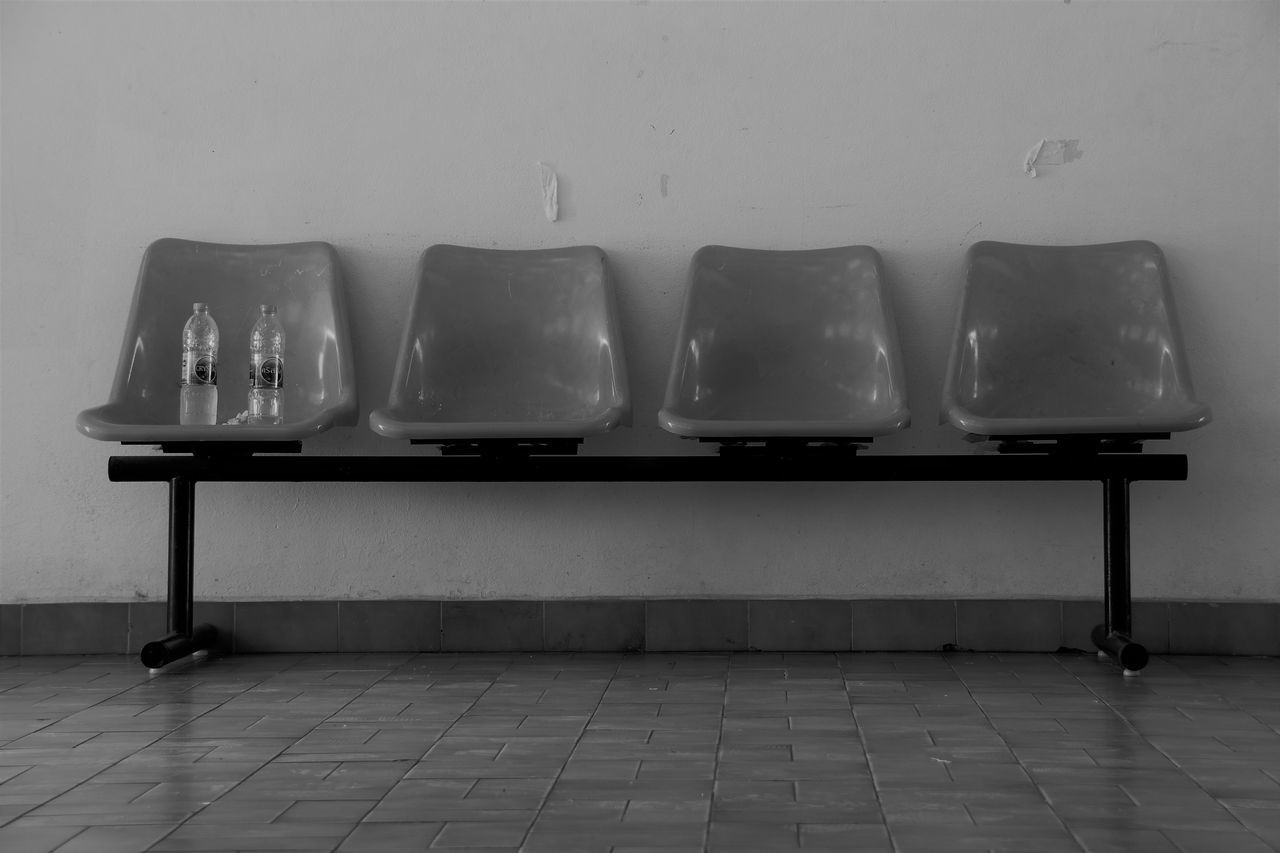 Home Stadium Background Chairs Chairs And Wal Day Indoors  Monochrome Photography Monotone No People Sport