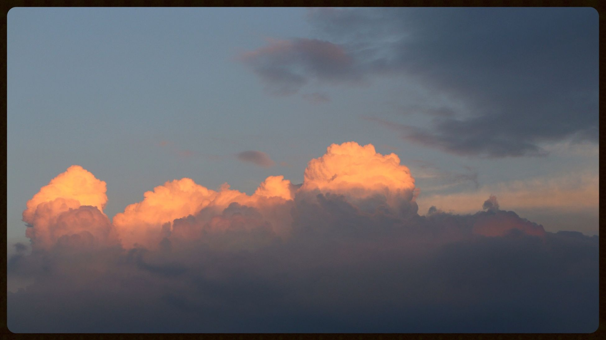 cloud upon my roof.