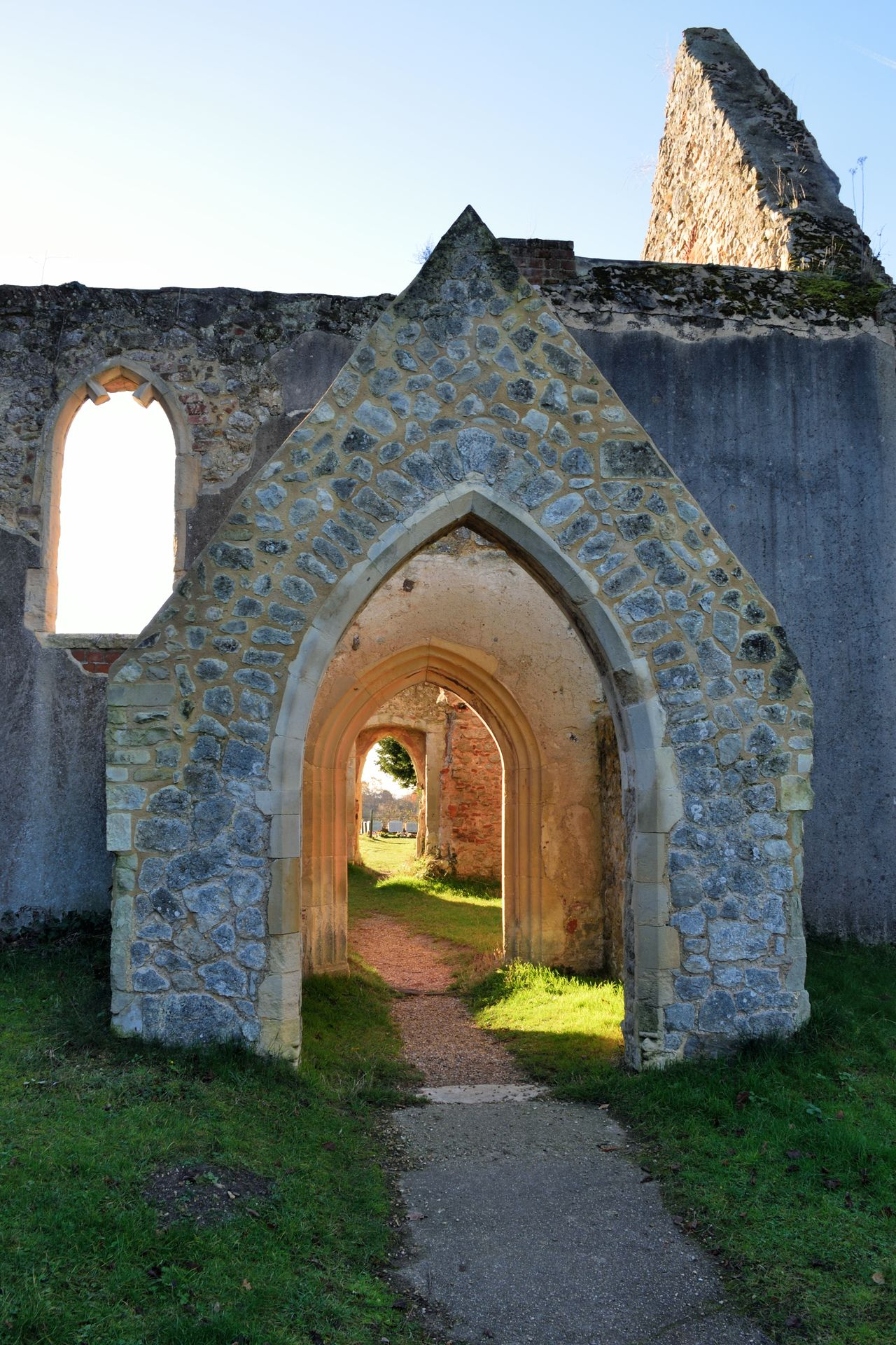 Church ruins archway Ancient Arch Architecture Built Structure Church Doorway Entrance Norman Church Normandie Old Ruin Religion Ruins